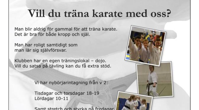 Vill du träna karate med oss?
