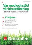 Stöd oss genom Svenska Spels Gräsroten